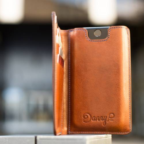 Dark Brown iPhone Wallet case
