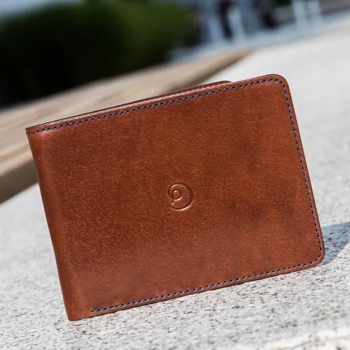 Dark Brown Slim Leather Wallet   Danny P