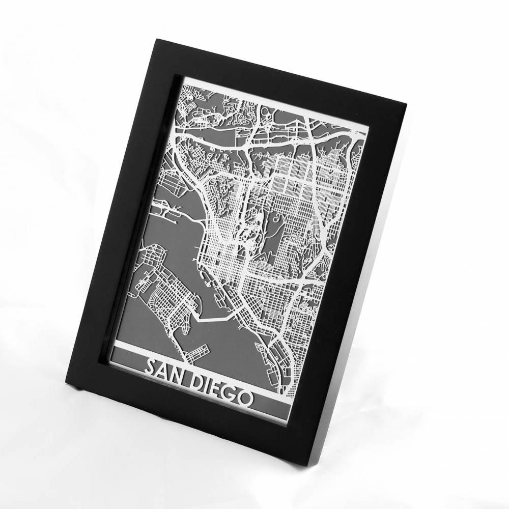 San Diego   Cut Maps