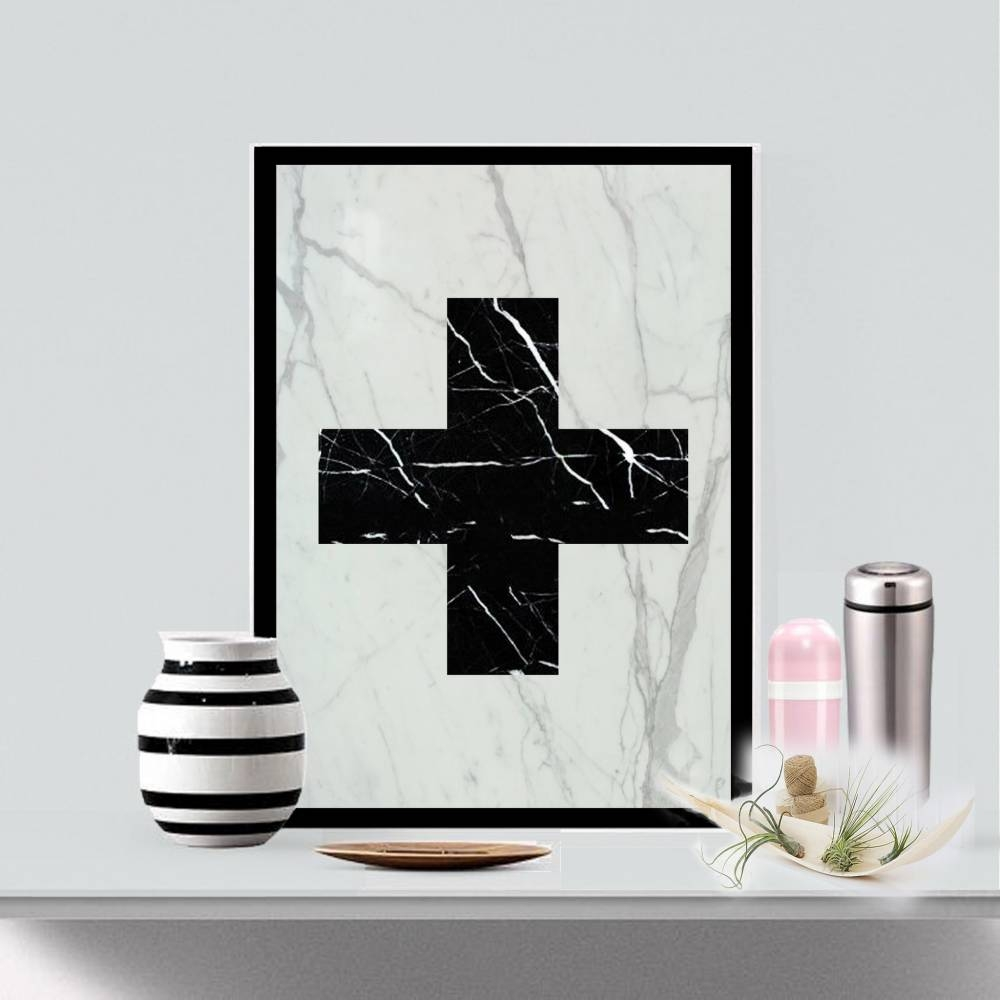 Real Marble Cross Art Piece   Mikol