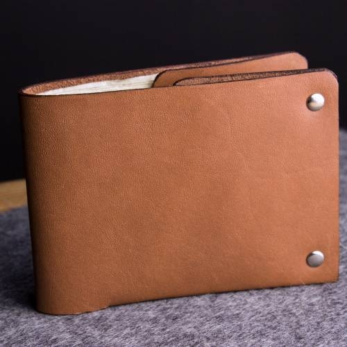 Unstitched Leather Billfold Wallet
