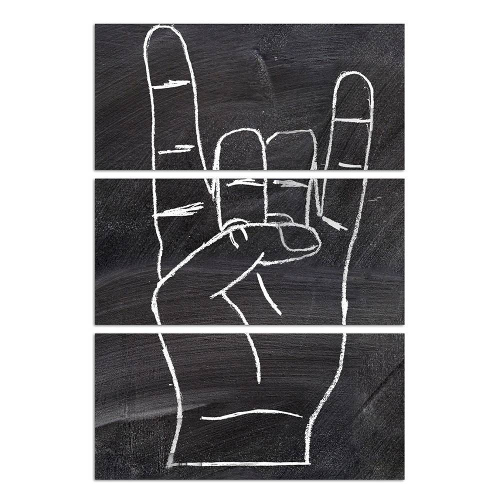 Rock On Triptych | Canvas Art | Oliver Gal