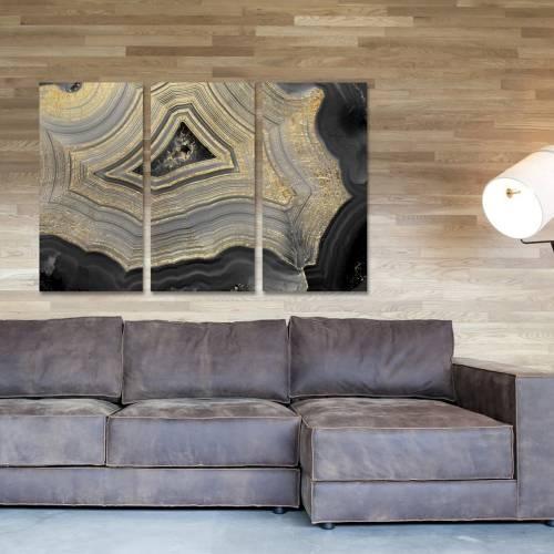 Dubbio Geode Triptych | Canvas Art | Oliver Gal