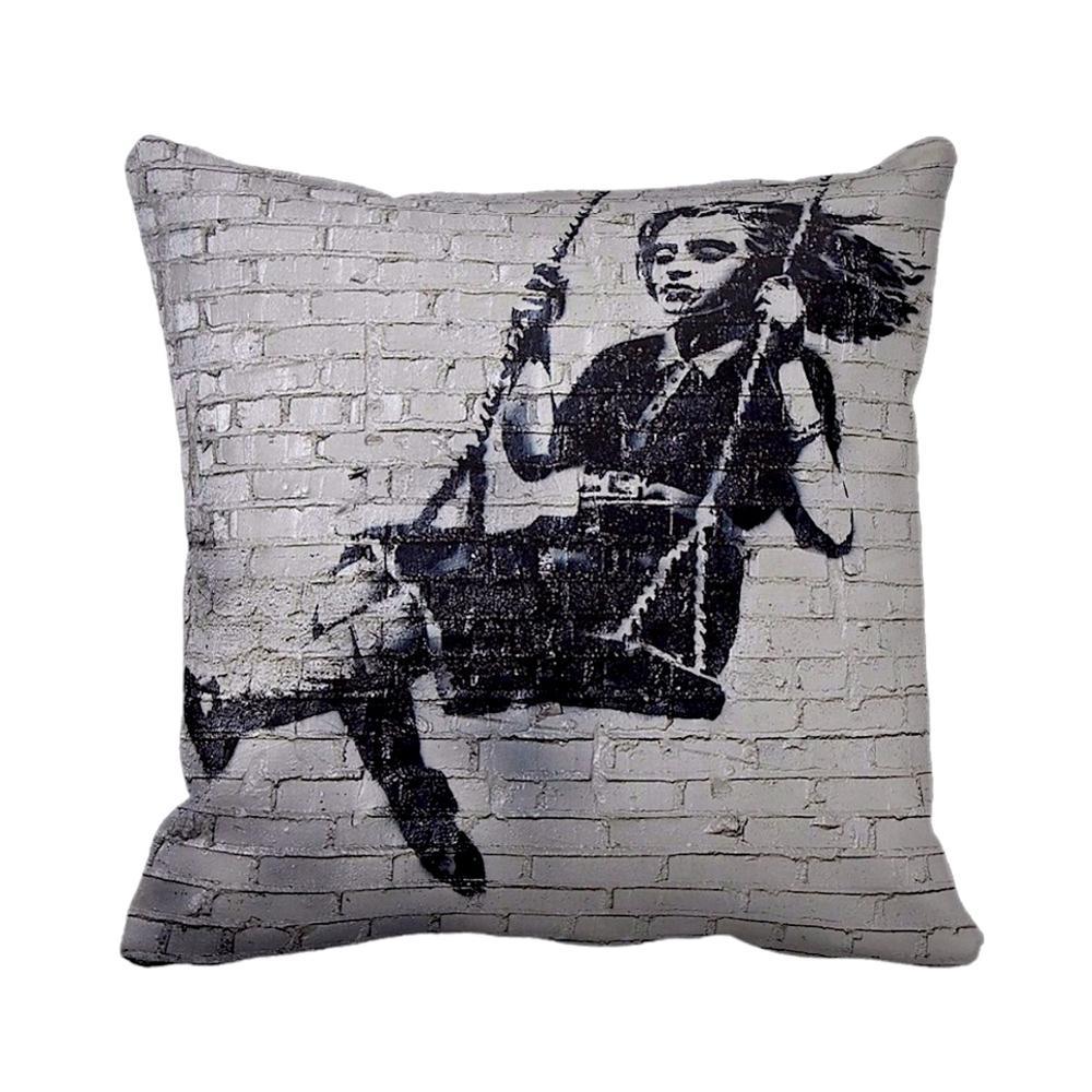 Swing Girl | Banksy Art | iLeesh
