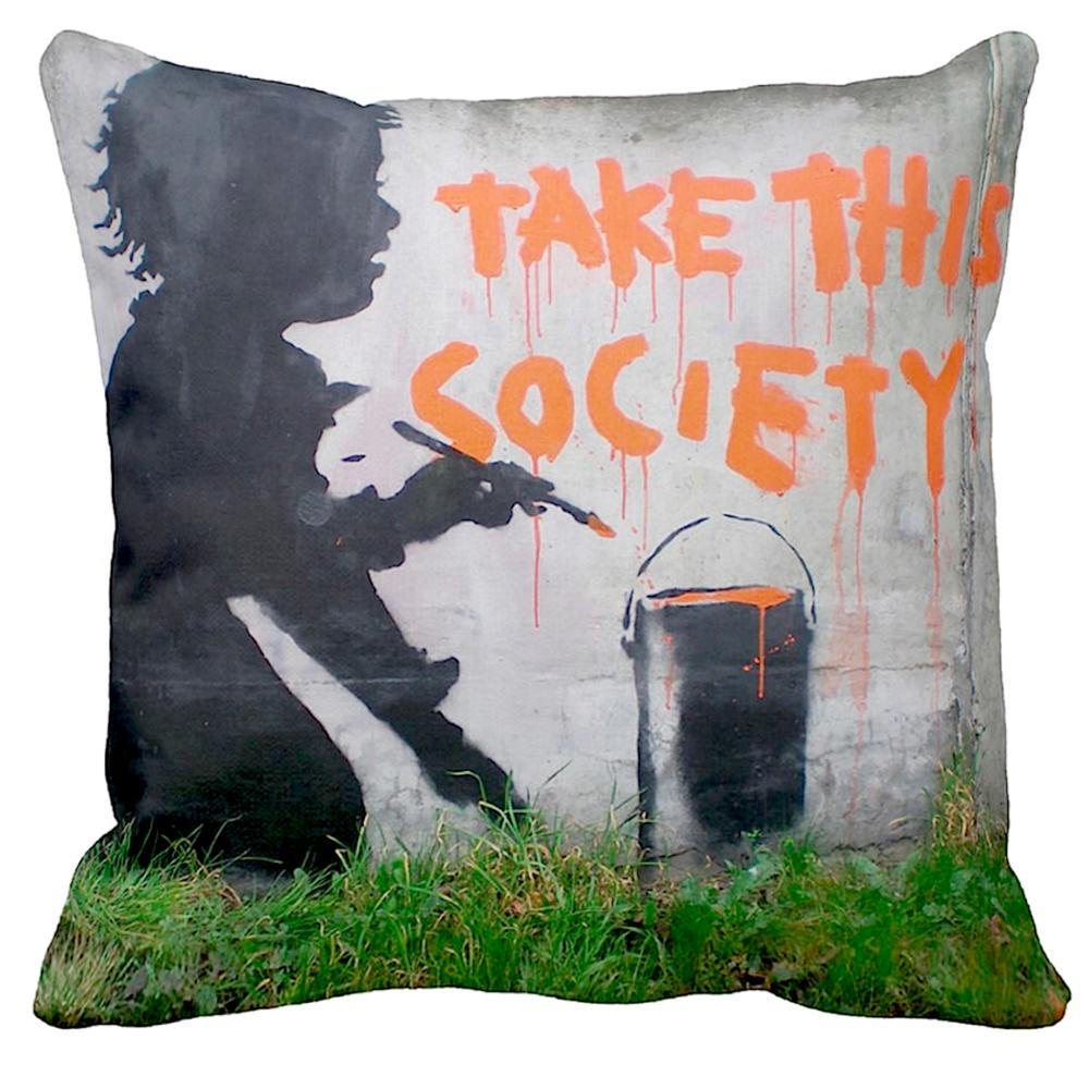 Take This Society   Banksy Art   iLeesh