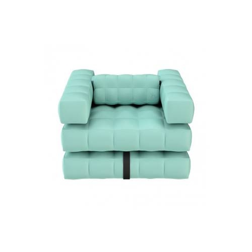 Armchair / Sun Lounger Set | Aquamarine Green | Pigro Felice