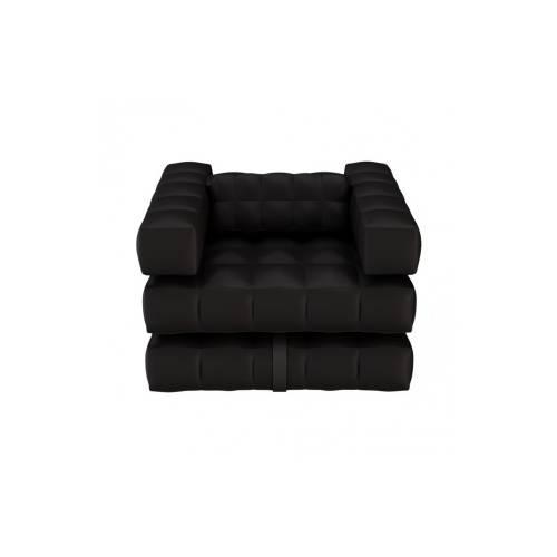 Armchair / Single Lounger Set   Matte Black   Pigro Felice