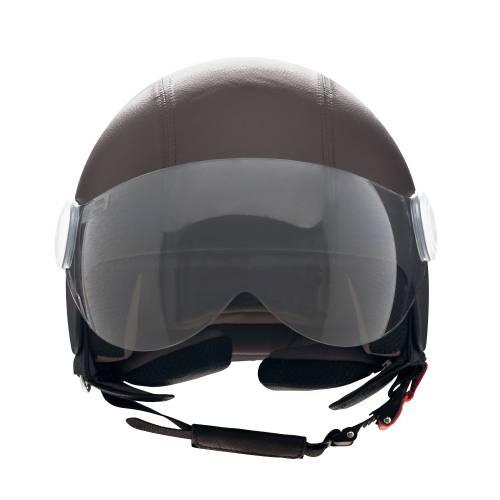 Basic Leather Helmet | Brown