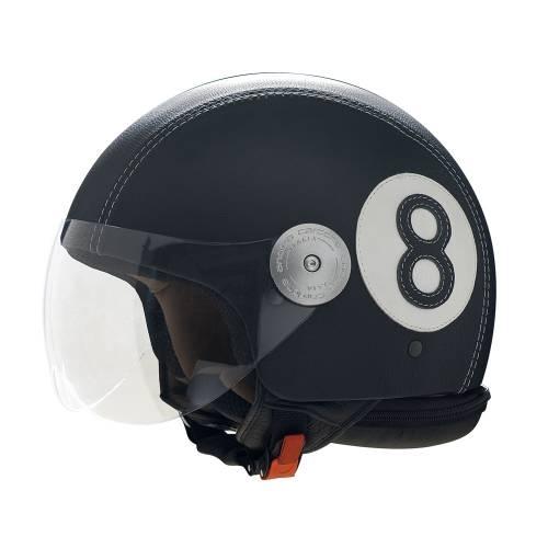 Black Leather Helmet |