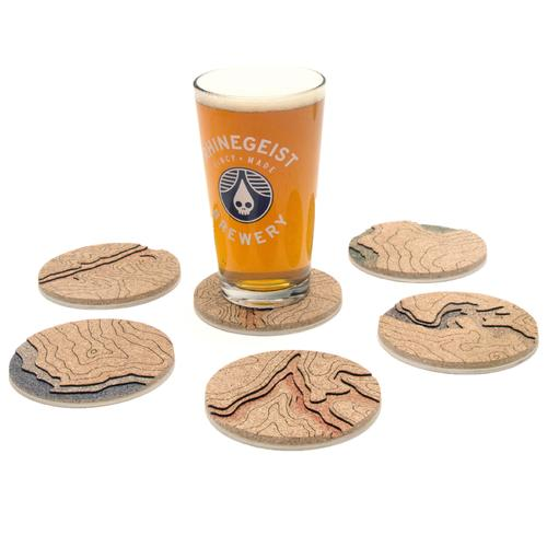 Topo Coasters | Set of 4 | Big Sur | Tom Will Make