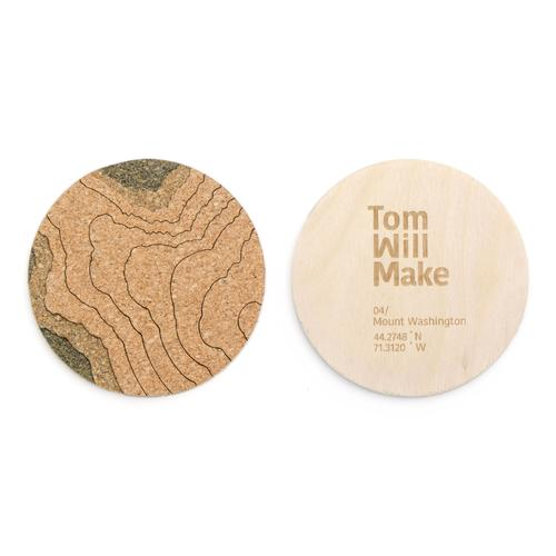 Topo Coasters | Set of 4 | Mt Washington