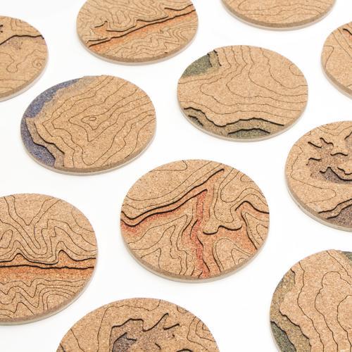 Topo Coasters   Set of 4   Grand Canyon   Tom Will Make