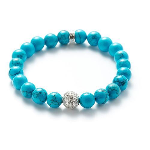 Howlite | Silver Ball Bracelet