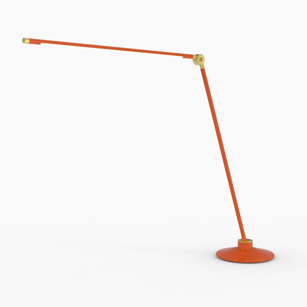 Thin T Desk Lamp   Orange   Juniper Design