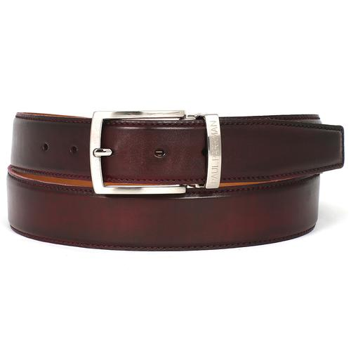 Men's Leather Belt | Dark Bordeaux