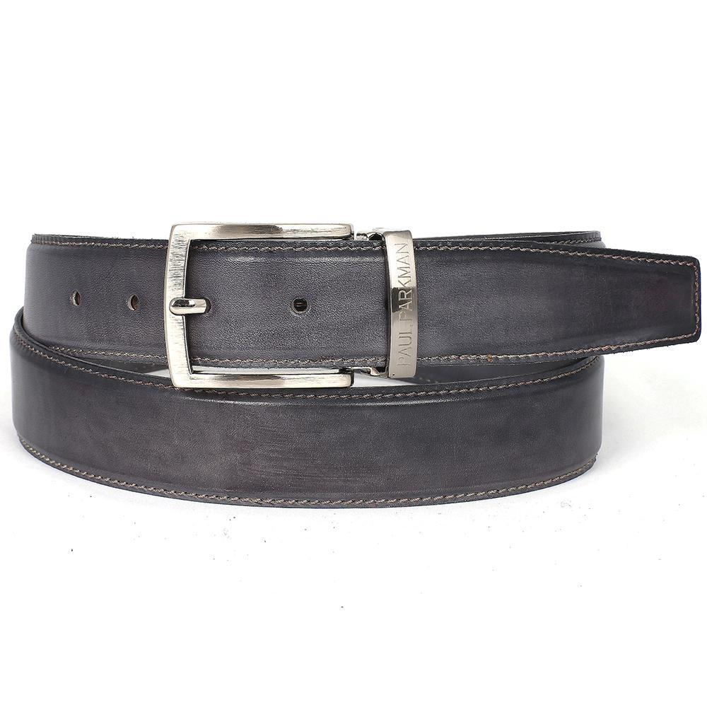 Men's Leather Belt | Gray