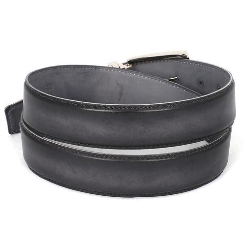 Men's Leather Belt Dual Tone | Gray & Black
