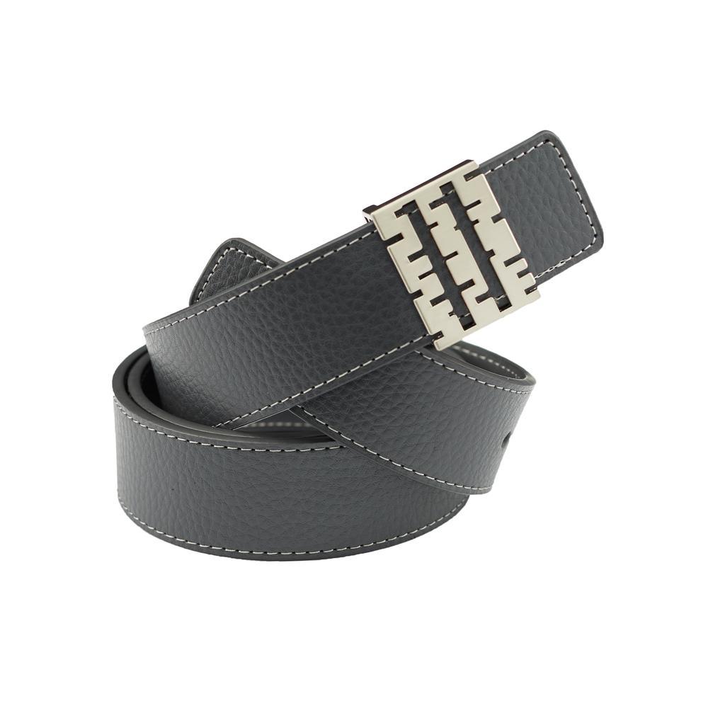 Breza Leather Belt   Gray   Accessories