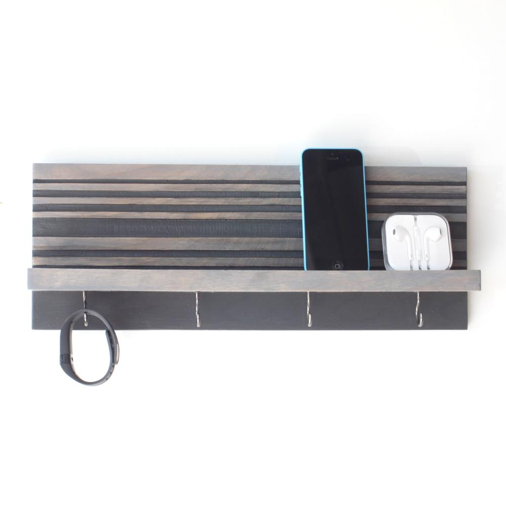 Key Holder / Jewelry Organizer | Gray | Wood Butcher Designs