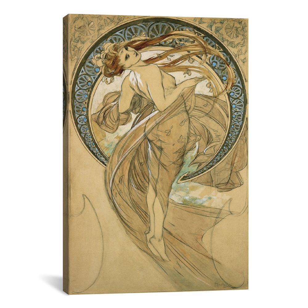 Dance by Alphonse Mucha Canvas Print