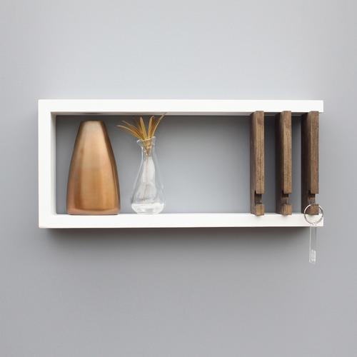 Entryway Key Rack & Shelf Storage | Wood Butcher Designs