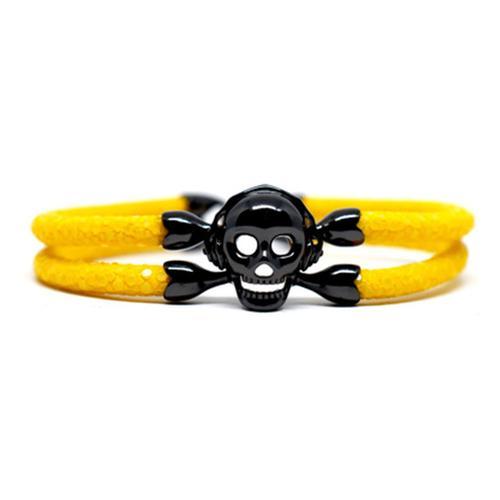 Bracelet | Single Skull | Yellow/Black