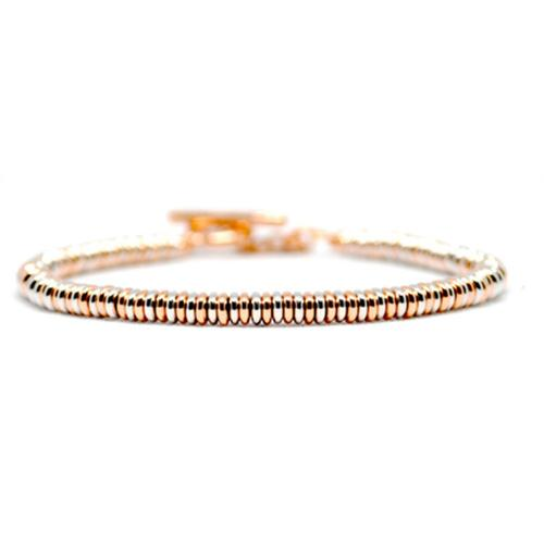 Bracelet | Single Beads | Rose/White Gold