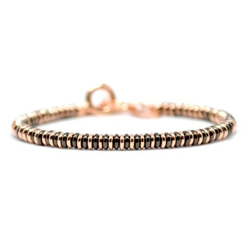 Bracelet | Single Beads | Black/Rose Gold