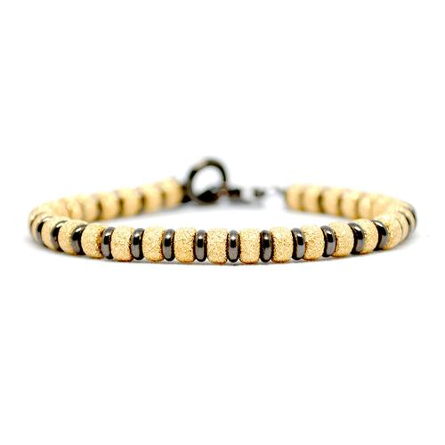 Bracelet | Multi Beads | Gold/Black