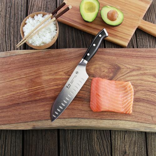 D Series | Santoku Knife | Steel | Black Handle | Cangshan