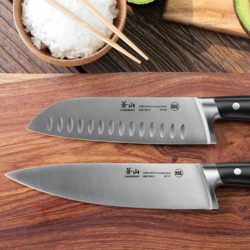 S Series   Set of 2 Knives   Steel   Black Handle   Cangshan