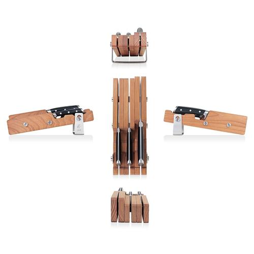 S Series | 4-Piece Set | Ash Wood Block | Cangshan