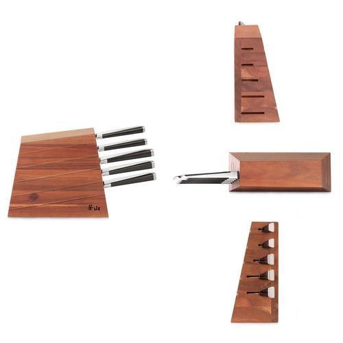 X Series | 6-Piece Knife Set | Acacia Wood Block | Cangshan