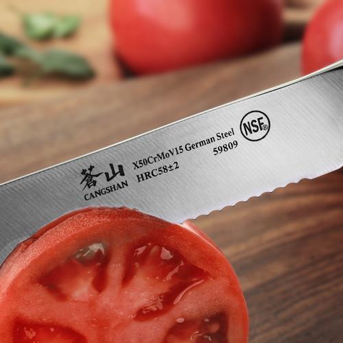 N1 Series 5-Inch Serrated Utility Knife   Cangshan