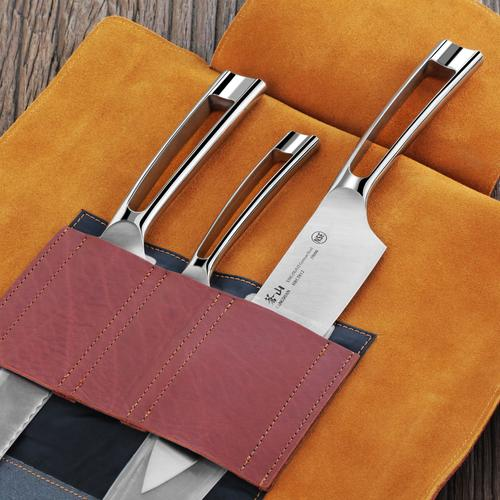 N1 Series 4-Piece Set | Genuine Leather Roll | Cangshan
