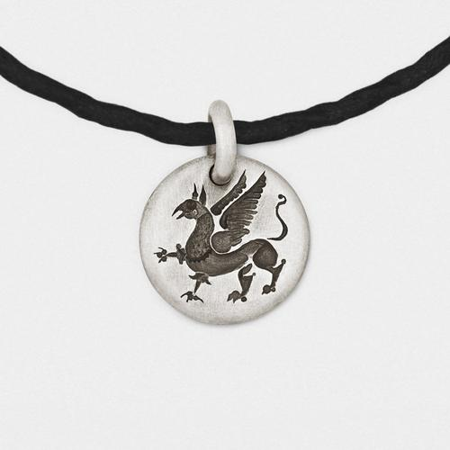 Griffin Charm Pendant | Sterling Silver