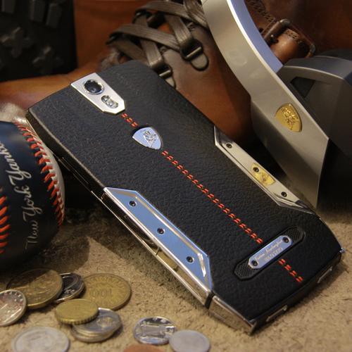 88 Tauri Smartphone   Black Leather   Steel