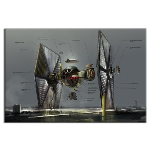 Imperial Fighter Exploded View