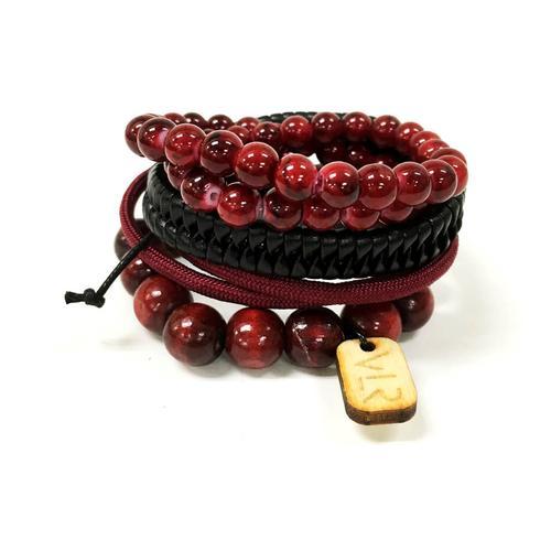 Variety Bracelet Set | Maroon