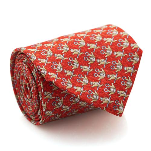 Necktie | Red with Panda Pattern