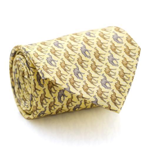 Necktie | Beige with Camel's Pattern