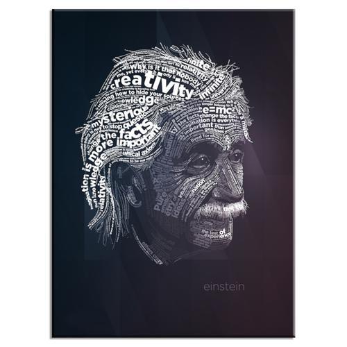 Einstein Typography Poster