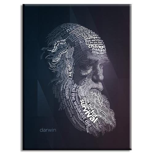 Darwin Typography Poster