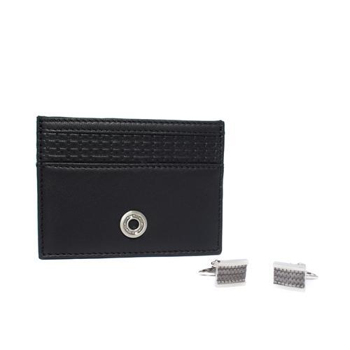 Card Holder / Cufflinks Gift Set | Tyre Tread