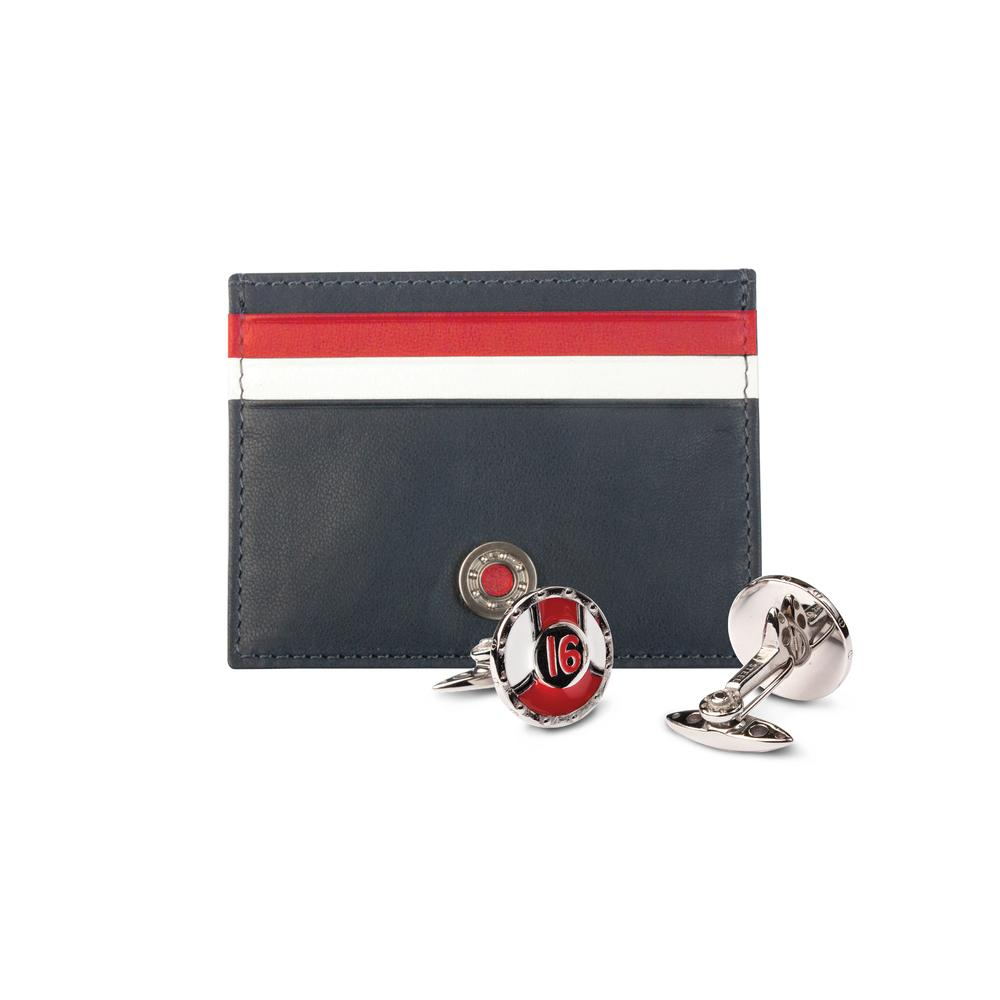 Leather Card Holder / Cufflinks Gift Set #16 | GTO London