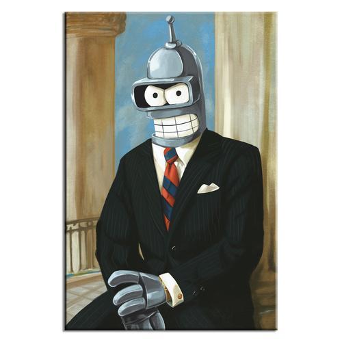 Futurama Bender Presidential Ronald Reagan Poster