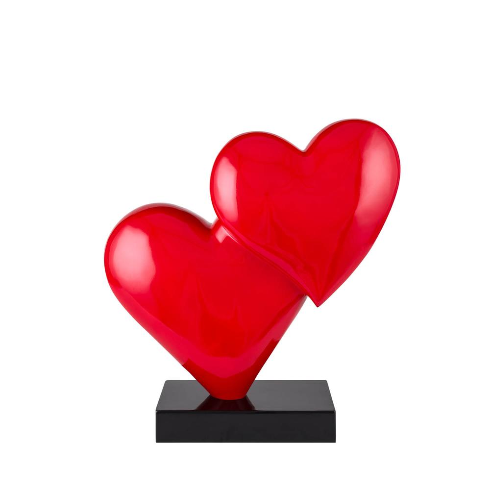 Love in the Air   Red Heart Resin Sculpture