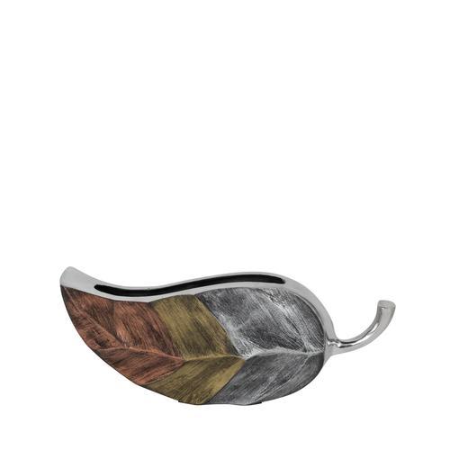 Tri-Tone Leaf embossed Vase