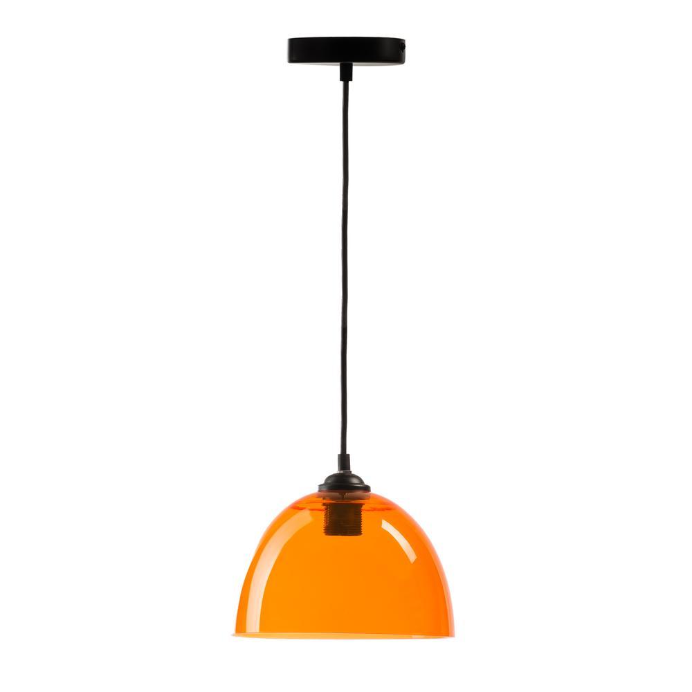 Suspension Bowl Pendant Lamp Orange