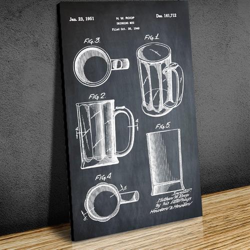 Beer Mug-1951 Chalk   Canvas